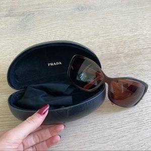 Prada Brown Wraparound Sunglasses